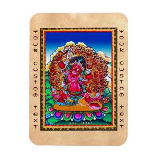 Cool oriental tibetan thangka tattoo Hayagriva Magnet
