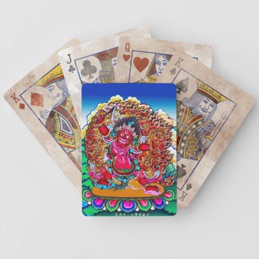 Cool oriental tibetan thangka tattoo Hayagriva Bicycle Playing Cards