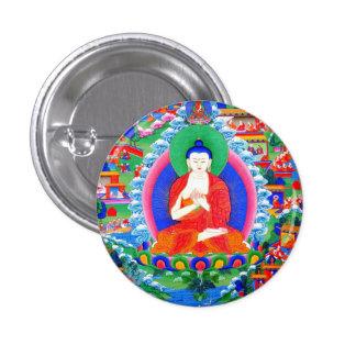 Cool oriental tibetan thangka tattoo Mahavairocana Button