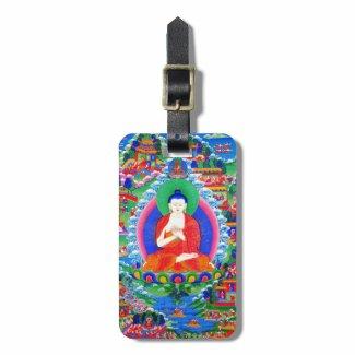 Cool oriental tibetan thangka tattoo Mahavairocana Bag Tags