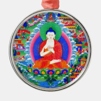 Cool oriental tibetan thangka tattoo Mahavairocana Metal Ornament
