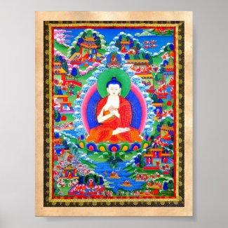 Cool oriental tibetan thangka tattoo Mahavairocana Print