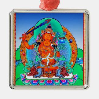 Cool oriental tibetan thangka tattoo Manjusri Metal Ornament