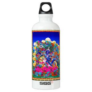 Cool oriental tibetan thangka tattoo Palden Lhamo Aluminum Water Bottle