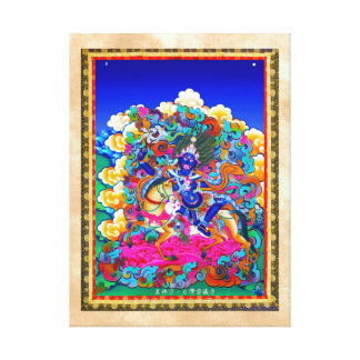 Cool oriental tibetan thangka tattoo Palden Lhamo Canvas Print