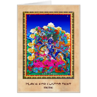 Cool oriental tibetan thangka tattoo Palden Lhamo Card