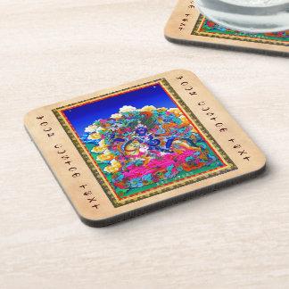 Cool oriental tibetan thangka tattoo Palden Lhamo Drink Coaster