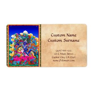 Cool oriental tibetan thangka tattoo Palden Lhamo Label