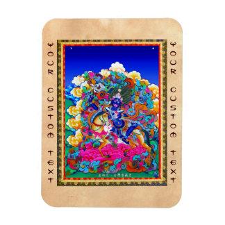 Cool oriental tibetan thangka tattoo Palden Lhamo Magnet