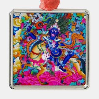 Cool oriental tibetan thangka tattoo Palden Lhamo Metal Ornament