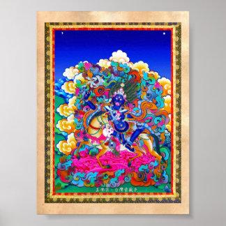 Cool oriental tibetan thangka tattoo Palden Lhamo Poster