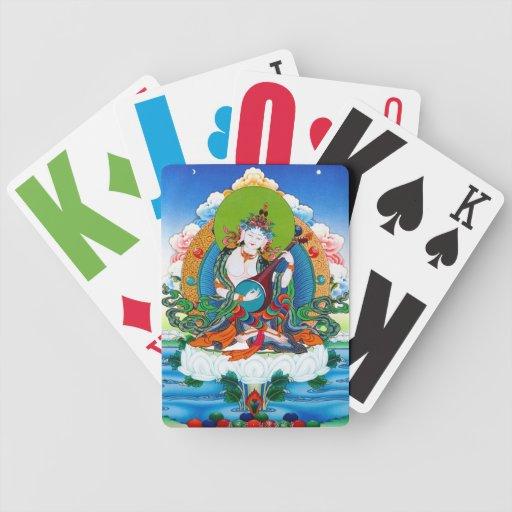 Cool oriental tibetan thangka tattoo Saraswati Bicycle Playing Cards