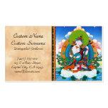 Cool oriental tibetan thangka tattoo Saraswati Business Card