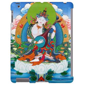 Cool oriental tibetan thangka tattoo Saraswati