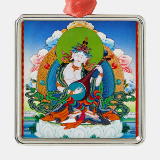 Cool oriental tibetan thangka tattoo Saraswati Metal Ornament