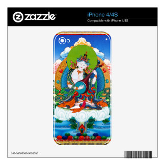 Cool oriental tibetan thangka tattoo Saraswati Skin For The iPhone 4