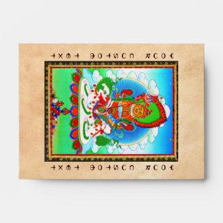 Cool oriental tibetan thangka tattoo Vaishravana Envelope