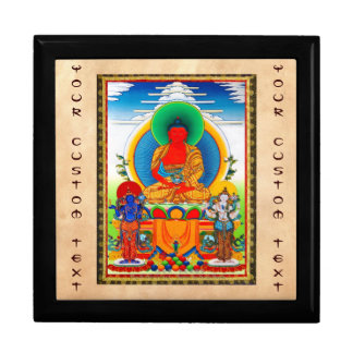 Cool oriental tibetan thangka Three Major Saints Jewelry Box