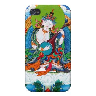 Cool oriental tibetan thangka too Saraswati iPhone 4/4S Covers