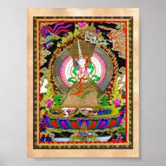 Cool oriental tibetan thangka Usnisa Sitatapatra Posters