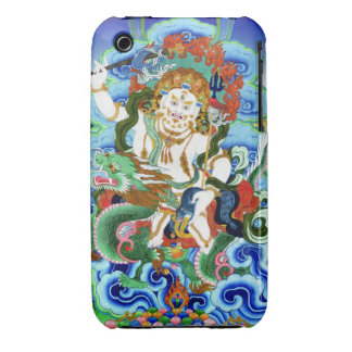 Cool oriental tibetan thangka White Jambhala iPhone 3 Cover