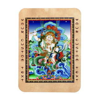 Cool oriental tibetan thangka White Jambhala Magnet