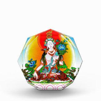 Cool oriental tibetan thangka White Tara tattoo Acrylic Award