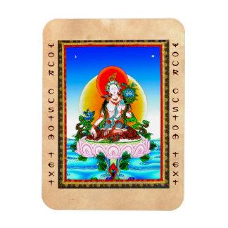 Cool oriental tibetan thangka White Tara tattoo Magnet