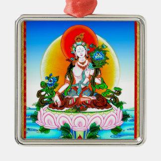 Cool oriental tibetan thangka White Tara tattoo Metal Ornament
