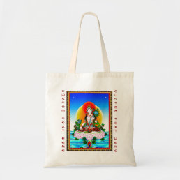 Cool oriental tibetan thangka White Tara tattoo Tote Bag