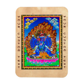 Cool oriental tibetan thangka Yamantaka tattoo Magnet