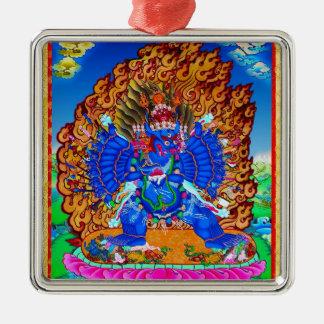 Cool oriental tibetan thangka Yamantaka tattoo Metal Ornament