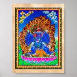 Cool oriental tibetan thangka Yamantaka tattoo Poster