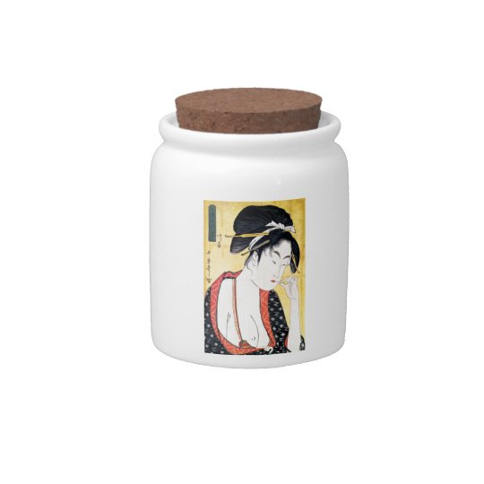 Cool Oriental Traditional Classic Geisha Candy Jar