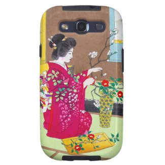 Cool oriental traditional japanese geisha lady art samsung galaxy s3 cover