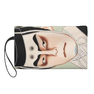 Cool oriental traditional japanese kabuki man wristlet purse