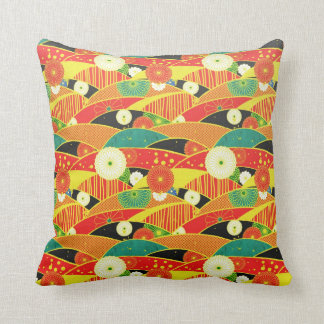 Cool oriental traditional japanese pattern pillow