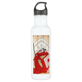 Cool Oriental Traditional Japanese Red Samurai Water Bottle