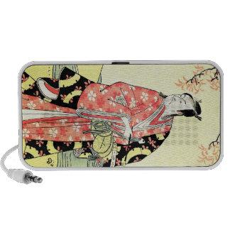 Cool Oriental Traditional Japanese Samurai art Notebook Speakers