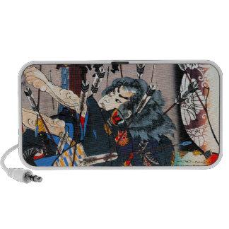 Cool oriental traditional japanese Samurai Warrior Portable Speaker