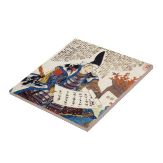 Cool oriental traditional japanese warrior art tile