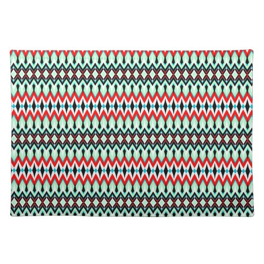 Cool oriental tribal abstract native pattern placemat