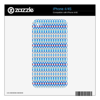 Cool oriental tribal abstract native pattern skin for iPhone 4S