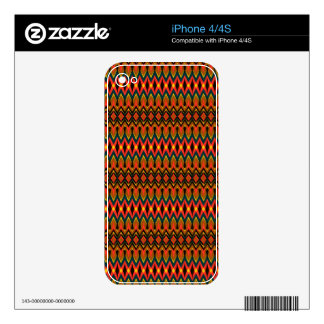 Cool oriental tribal abstract native pattern decals for the iPhone 4S