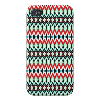 Cool oriental tribal abstract native pern iPhone 4/4S cases