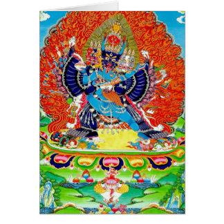 Cool oriental Vajrabhaivara Yamantaka death god Card