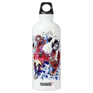 Cool Oriental Warrior and Tiger tattoo SIGG Traveler 0.6L Water Bottle
