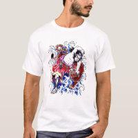 Cool Oriental Warrior and Tiger tattoo T-Shirt