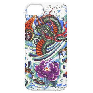 Cool Oriental Water Dragon Purple Lotus tattoo iPhone 5 Covers