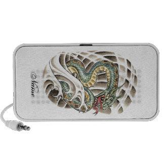Cool Oriental Water Snake Tattoo Travelling Speakers
